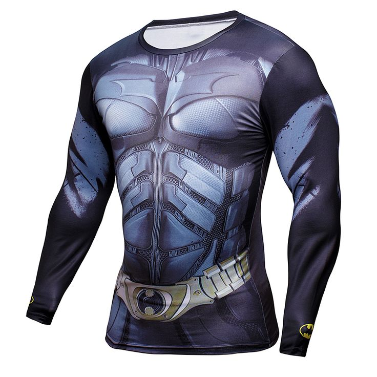 >> Click to Buy << Mens Clothing physical education Fitness t shirt 3D Superman/Captain America Long Sleeve tights T-Shirt Men Crossfit Compression #Affiliate