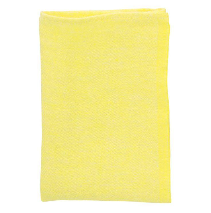 Tovagliolo Usva giallo di lino lavato, Lapuan Kankurit