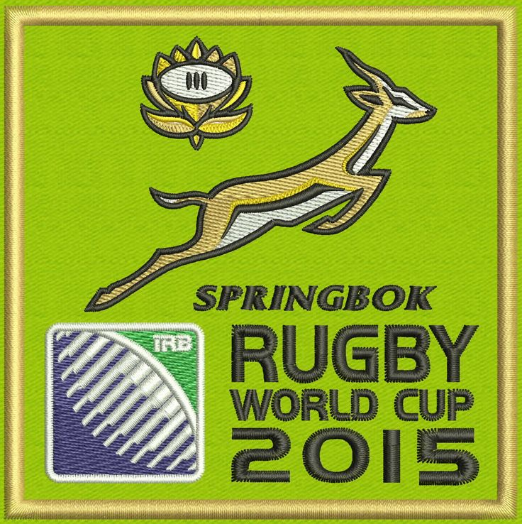"""Springbok South Africa Team Logo Embroidery Design  4""""x4"""" and 5""""x7"""" by StudioEmbroideryShop on Etsy https://www.etsy.com/listing/513231850/springbok-south-africa-team-logo"""