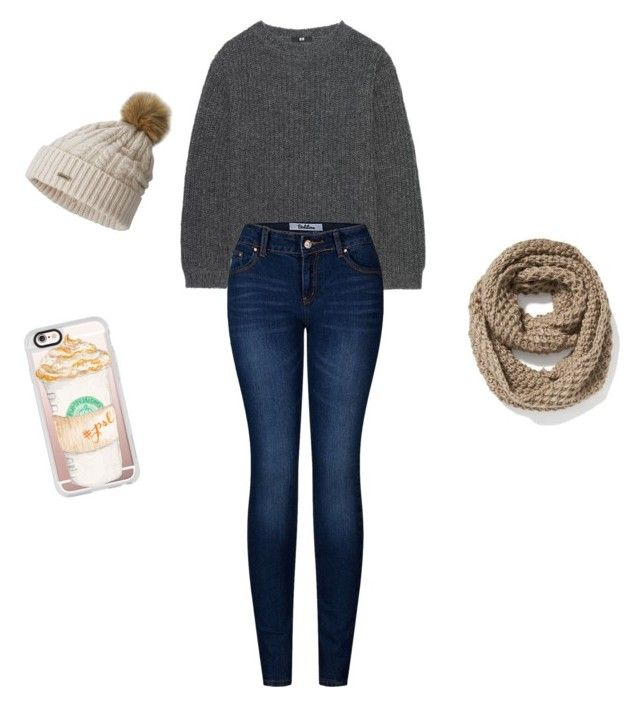 """Winter outfit"" by julie-snyder-i on Polyvore featuring Uniqlo, 2LUV, SOREL, Old Navy and Casetify"