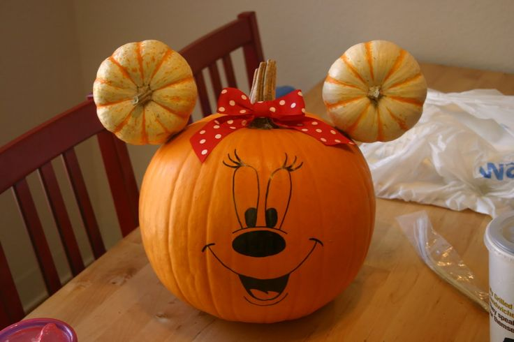 minnie and mickey painted pumpkin - Google Search