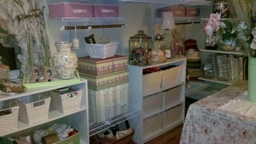 "More storage, lots of baskets for ribbon, lace and ""stuff"""