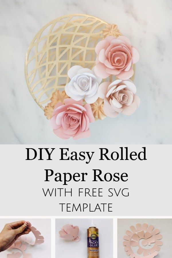 Free Rose Paper Flower Template Rolled Paper Flowers Easy Paper