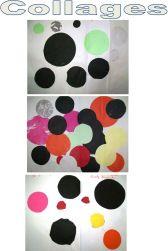 01 collage de ronds dans l'espace pour occuper la feuille