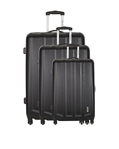 TRAVEL ONE 3er Set Hartschalen Trolley (grau)