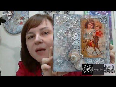 Создаем сказочное настроение: видео мастер-класс Натальи Жуковой по Микс медиа панно. - YouTube