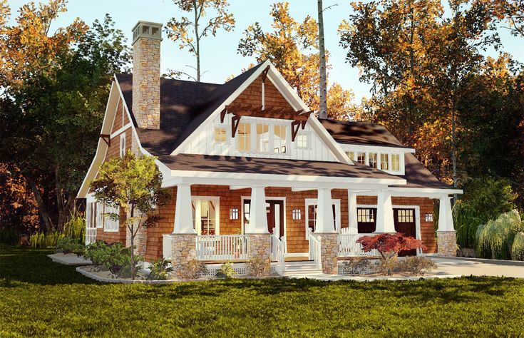 Storybook Bungalow With Screened Porch - 18266BE | Bungalow, Cottage, Country, Craftsman, Northwest, Vacation, Photo Gallery, 1st Floor Master Suite, Bonus Room, CAD Available, Den-Office-Library-Study, PDF, Split Bedrooms | Architectural Designs