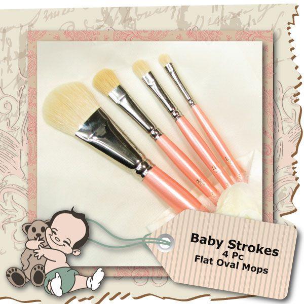 Baby Strokes 4 Piece Oval Mop Set
