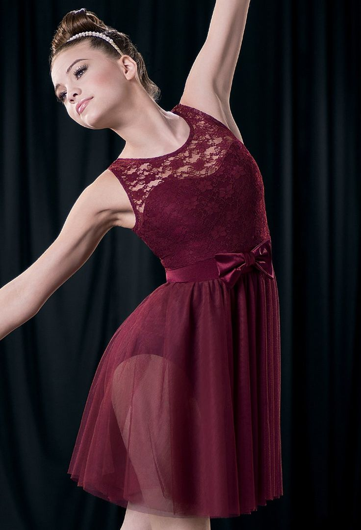 Weissman™ | Bow Accent Lace Day Dress - night changes - 1d