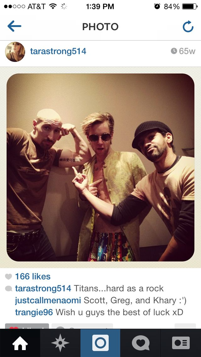Scott Menville, Greg Cipes, Khary Payton. The men of TT and TTG! #FondleFriday
