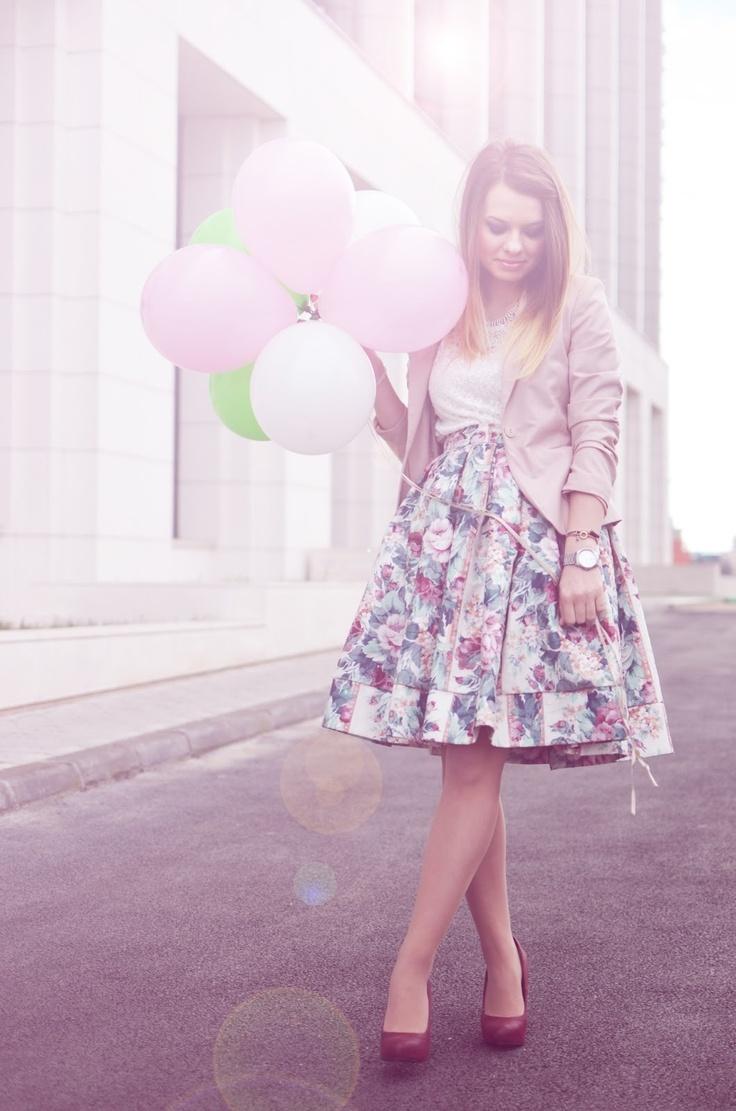The Lovely Darlings: Pink Birthday Girl  Skirt: Joie Top: Lefties Coat: Lefties Heels: Stradivarius