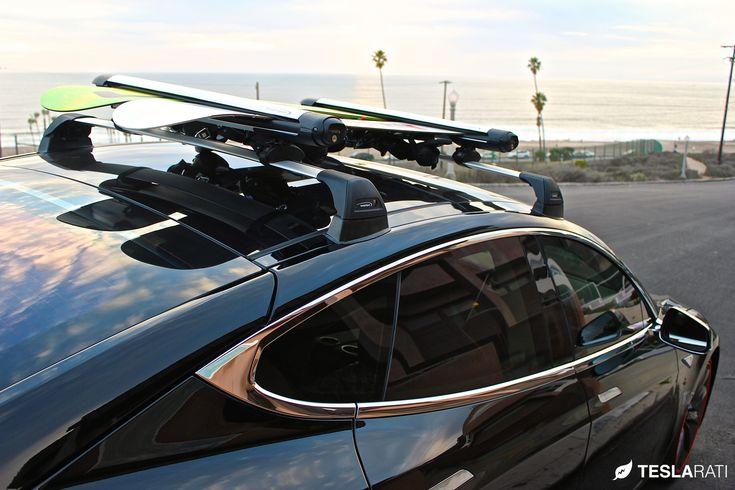 Tesla Model S Roof Rack Whispbar Snow Mount WB300