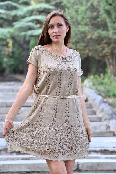 Платье шетландскимим мотивами