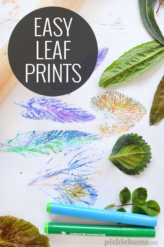 easy leaf printing - Printing Pictures For Kids