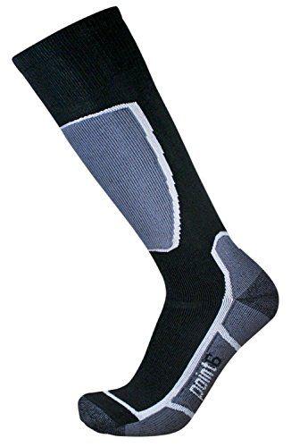 Point6 Ski Medium Over the Calf Sock (2015) - Black Large