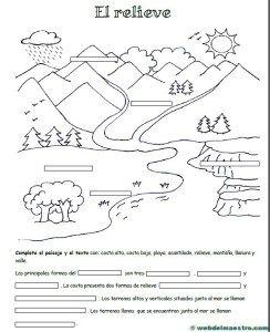 relieve para primaria - Recursos educativos y material didáctico para niños/as de Infantil y Primaria. Descarga relieve para primaria