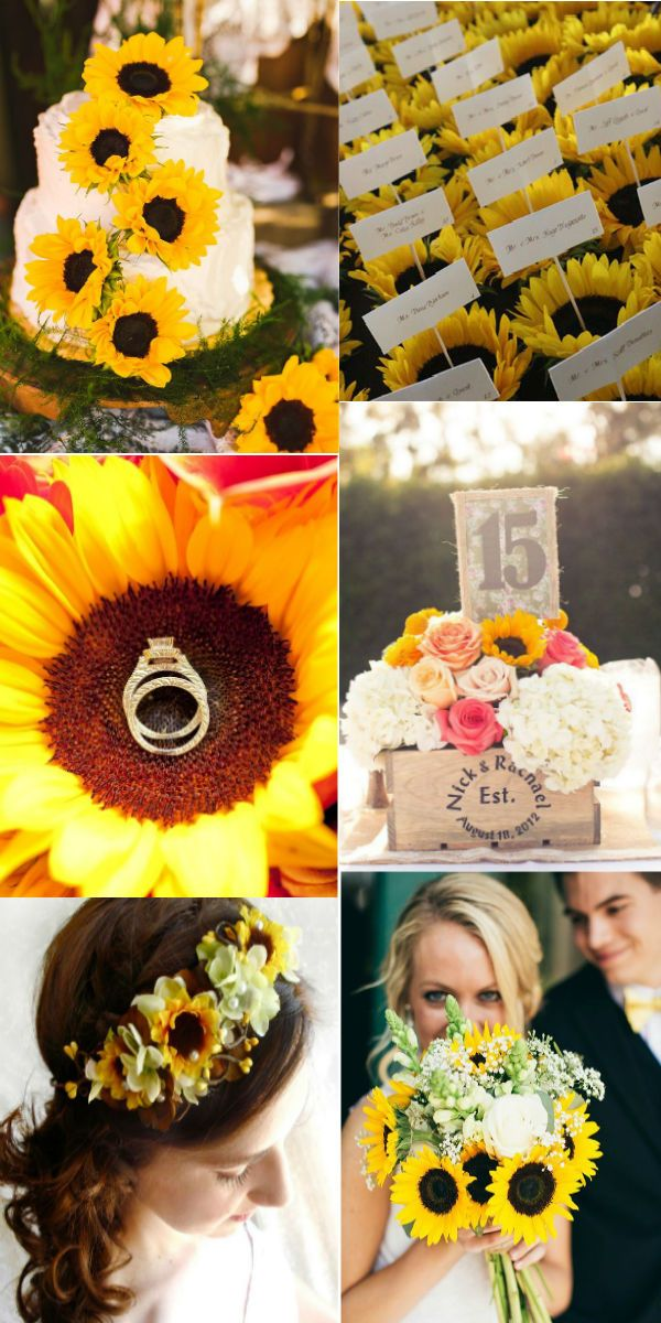 lovely sunflower wedding ideas you may love