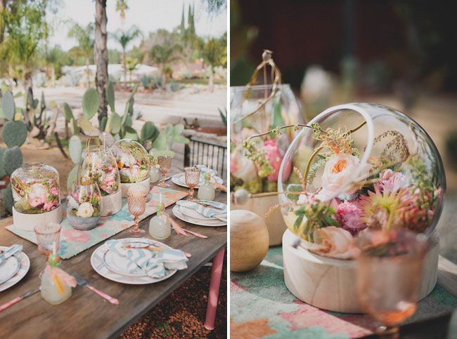 Desert Blooms Bridal Shower - love this tablescape!