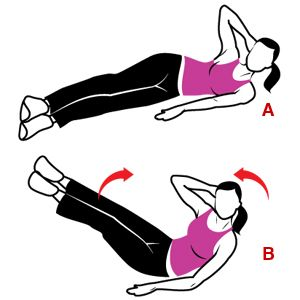 Here's some fun ab workouts for a firmer, flat stomach like V-Ups. Give old-fashioned crunches a break tomorrow