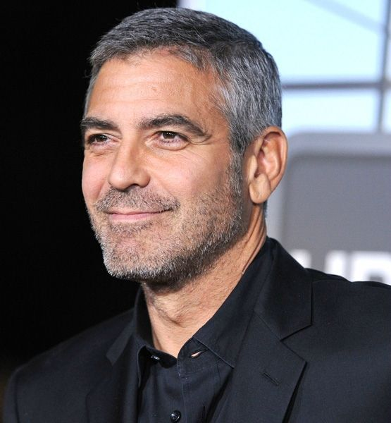 Love the silver fox color in his hair and facial hair. Very natural look