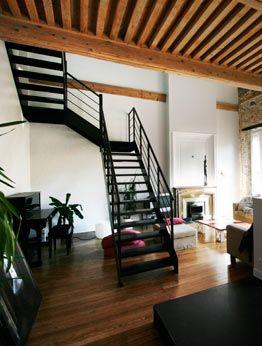site de volumes architectures escalier monumental en. Black Bedroom Furniture Sets. Home Design Ideas