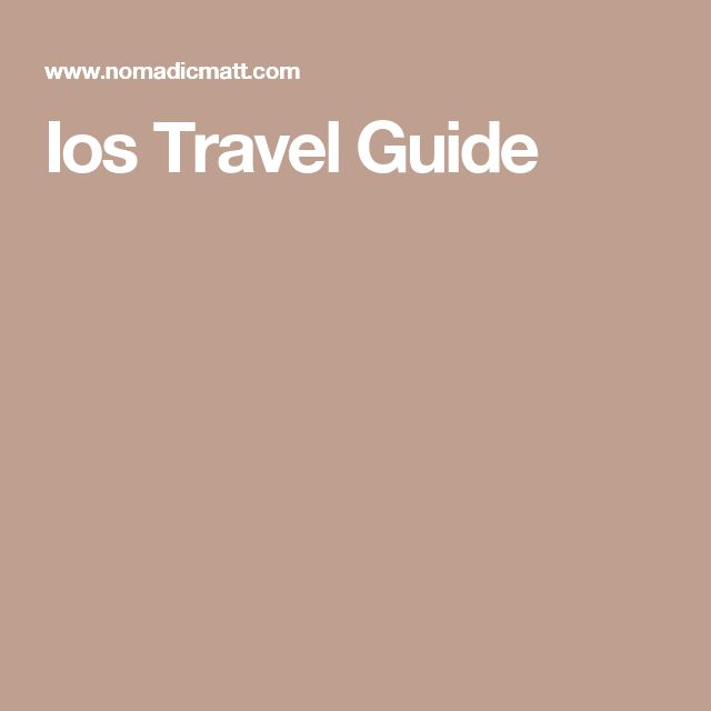 Ios Travel Guide