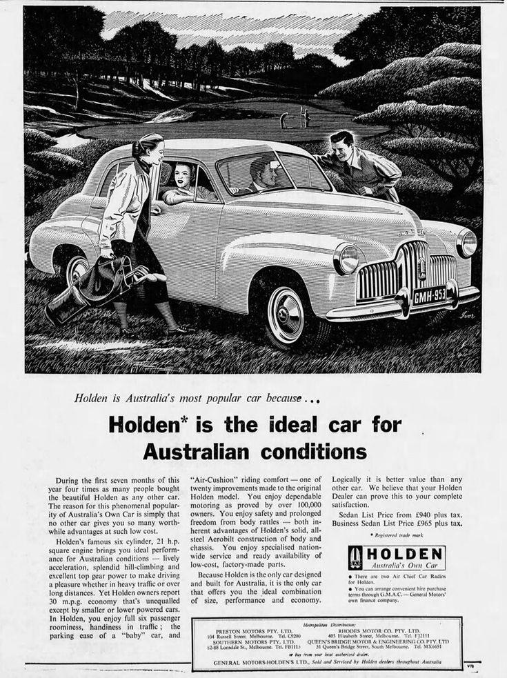 1953 Advertisement For Holden Fx Australia In 2020 Holden Australia Holden Australian Cars