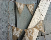 How Sweet it is Burlap pennant banner - rustic wedding decor - dessert table - reception. $30.00, via Etsy.