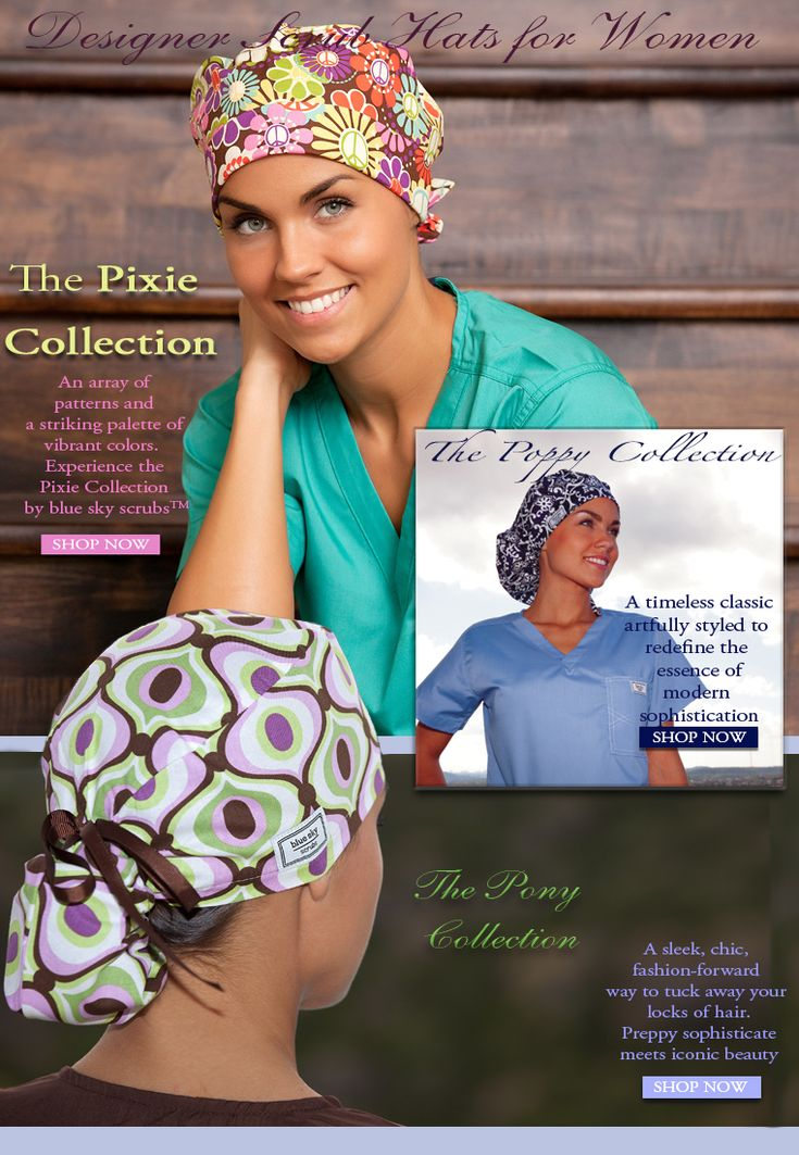 Scrub Hats - Scrub Hats for Women - blue sky scrubs......Want!