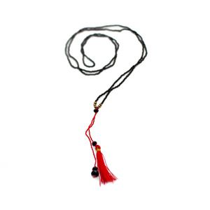 Short 'Mikro' Bead Tassel Necklace in Red. Other colours can be seen at www.morecollections.com.au
