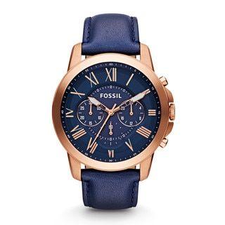 Fossil Men s FS4835  Grant  Analog Quartz Blue Watch (Fossil Men s FS4835  Grant Blue Watch) 70d3befc88