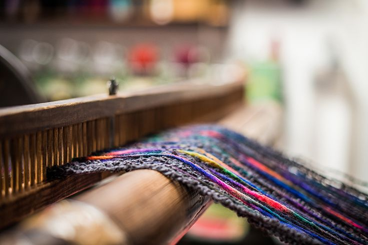 Beaming a warp | McKernan Woollen Mills | Handmade scarves | Made in Ireland | Irish Design | Weaving | Knitting Mens & Womens Accessories