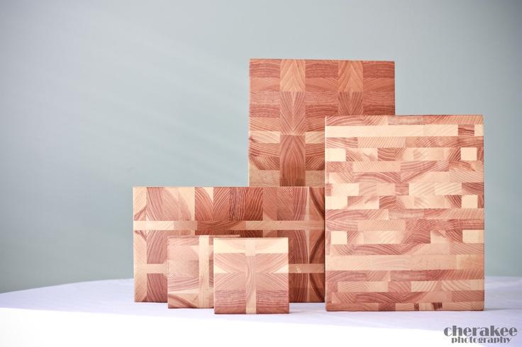Various pieces of butcher block.