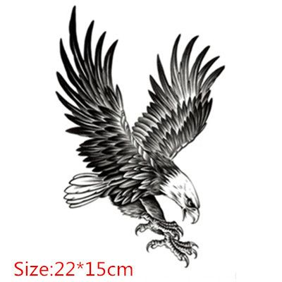 Moolecole unisex 2 sheets creative body art stickers removable waterproof temporary tattoos fake tattoos for men and women eagle see this great product