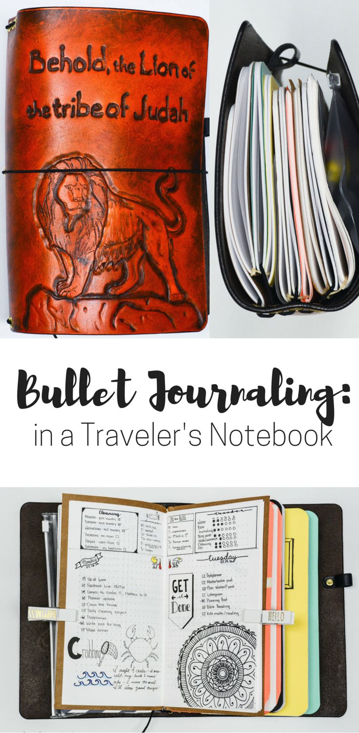 Bullet Journaling in a Traveler's Notebook