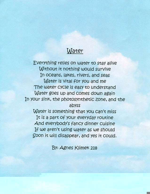 Water Pollution Poems 30