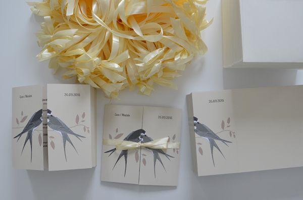 """""""Zakochane jaskółki"""" No2       kolekcja 2014       projekt, wykonanie zdjęcie: minwedding"""