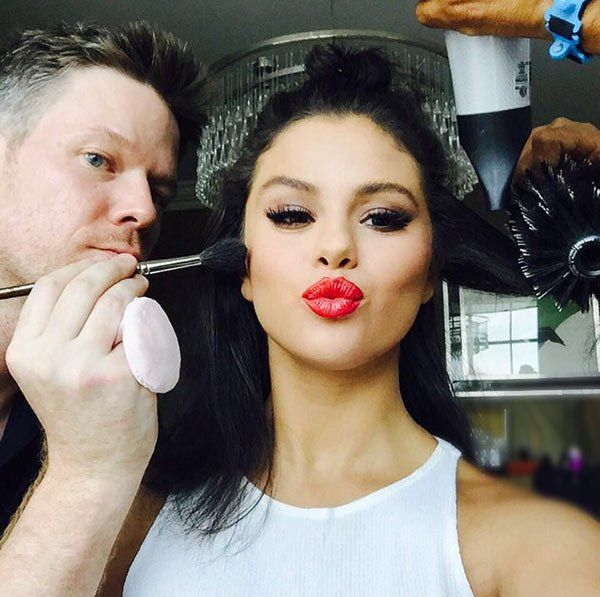 Selena Gomez is celebrating National Lipstick Day in a seriously sexy way! If there is one thing Selena rocks to perfection, it's a bold lip. She has great full lips, so a bright pop of color looks amazing on her! This time was no different when she donned cherry colored lips. Such a great look!
