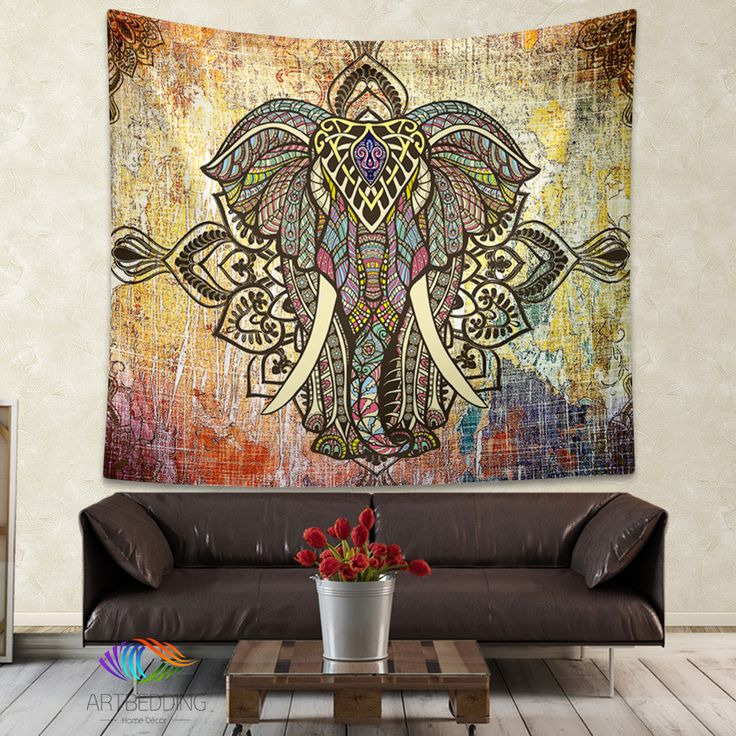 Elepahnt Tapestry, Bohemian wall tapestry, Hippie tapestry wall hanging, bohemian wall tapestries, Boho tapestries, Ethnic bohemian decor
