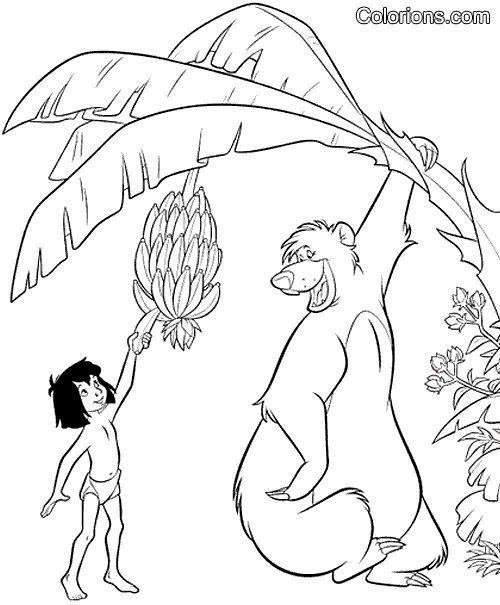 Les 25 meilleures id es de la cat gorie le livre de la - Le livre de la jungle coloriage ...