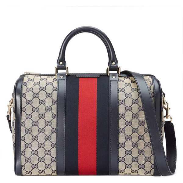 gucci bags for ladies. gucci vintage web original gg canvas boston bag ($1,390) ❤ liked on polyvore featuring bags for ladies