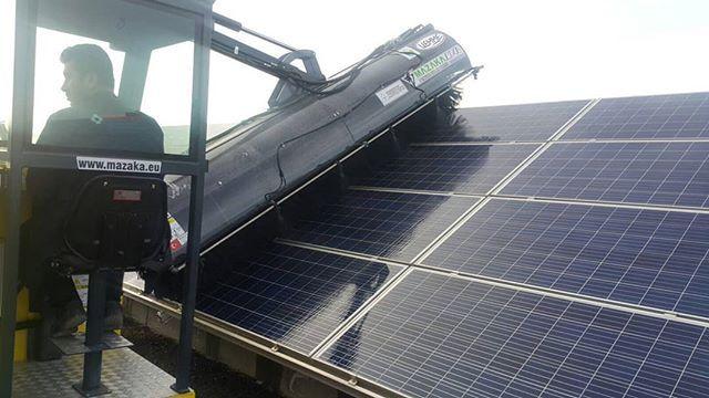 Mazaka Solar Panel Cleaning Machine Www Mazaka Eu Solarpower Https Www Linkedin Com Feed Update Urn Li Activity 64275855999 Solar Solar Power Solar Energy