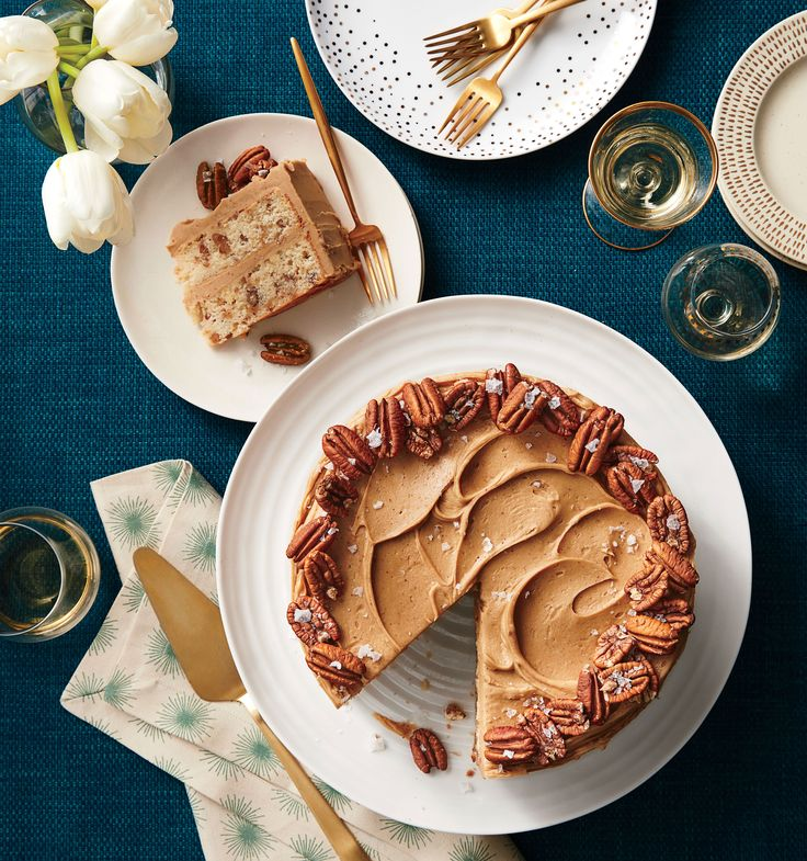 Butter Toffee-Pecan Layer Cake Recipe