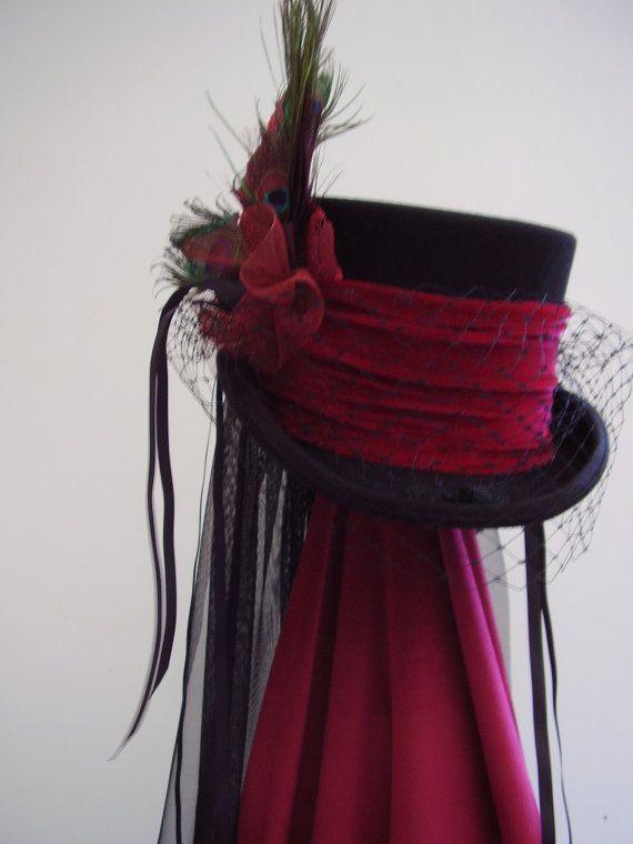 Black top hat steampunk Lady Philamae's wedding by Blackpin