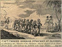 British captain witnessing the miseries of the Christian slaves in Algiers, 1815