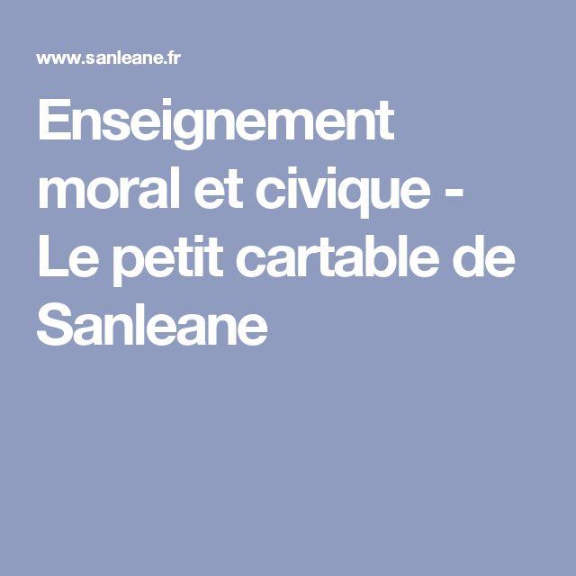 Enseignement moral et civique - Le petit cartable de Sanleane
