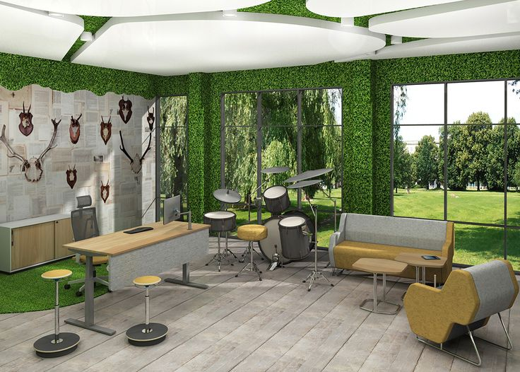 For companies that appreciate their employees' out-of-the-box and innovative thinking, we offer a modern and creative office arranged according to the biophilic design trend. #MYoffice #MakeYourSpace #Biophilicdesign