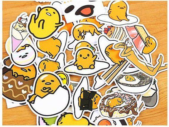 Lazy Egg 36 Stickers Gudetama Kawaii