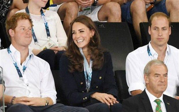 Prince Harry, Catherine Duchess of Cambridge and Prince William - Gymnastics  20th Commonwealth Games, Glasgow, Scotland, Britain - 28 Jul 2014: Commonwealth Games 2014: Duke and Duchess of Cambridge cheer on British gymnasts