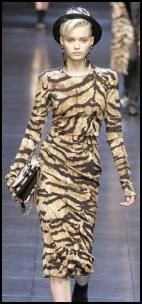 Animal Print Dress From Dolce & Gabbana #animal print fashions #animal print women's fashions #zebra print fashion